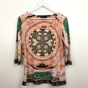 2/$20 Style & Company Multi-Print Blouse